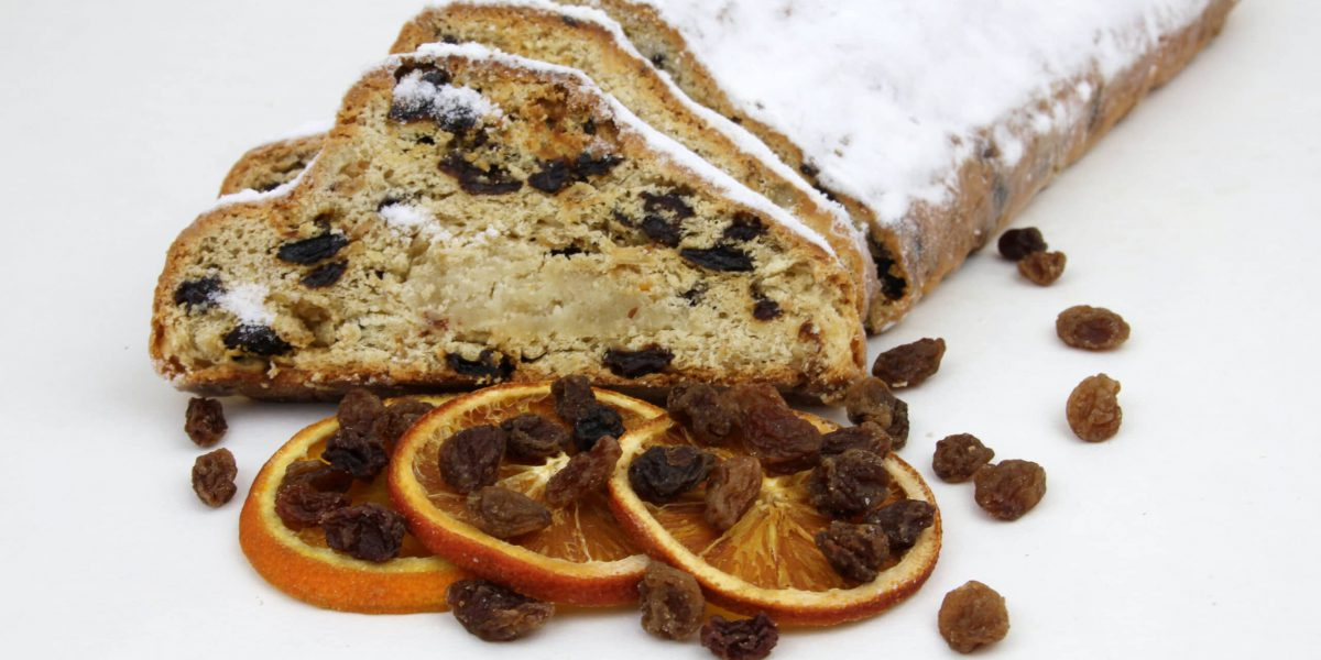 Christstollen mit Rosinen